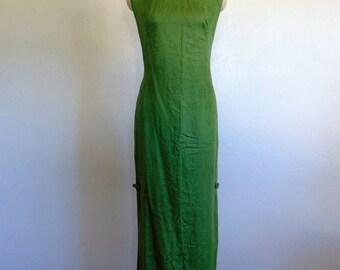60s cotton ASIAN wiggle dress long size medium