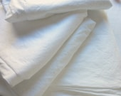 Vintage Bed Sheet - Crisp Pure White Fine Combed Percale Cotton  - Full Flat Penneys Pencale