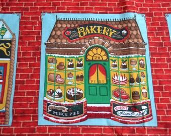 Kessler Fabric - Old Fashioned Christmas Store Windows - 44 x 44