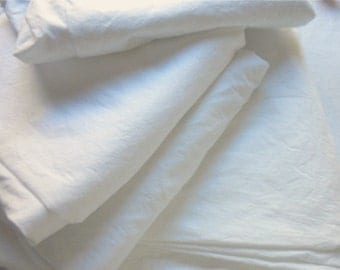 Vintage Bed Sheet - Crisp Pure White Fine Cotton Muslin - Twin Flat Dan River