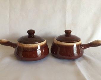 Set of 2 McCoy Soup Bowls With Lids