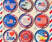 TOP Only**America Interchangeable Badge Reel Tops  *PICK ONE*