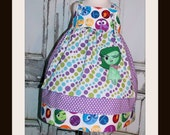 Inside Out Disgust Fear Sadness Joy Anger Apron Knot Dress 2 3 4 5 6 7 8 10 12 14 Custom Boutique Birthday Party Disney Pixar Movie Emotions