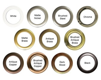 "Add 2"" grommets to your pair of 50W curtain panels, choose color"