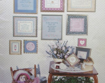 Hearts and Flowers/Counted Cross Stitch Patterns by Sue Hillis /1982/Needlecraft/Embroidery/Wall Hanging