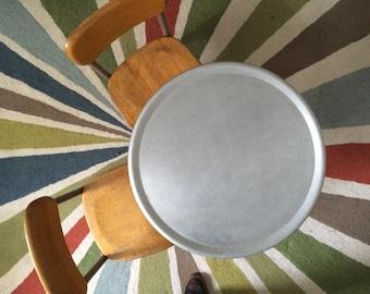 PAIR Heywood Wakefield Vintage Wood and Metal Industrial School Chairs Child's Chair
