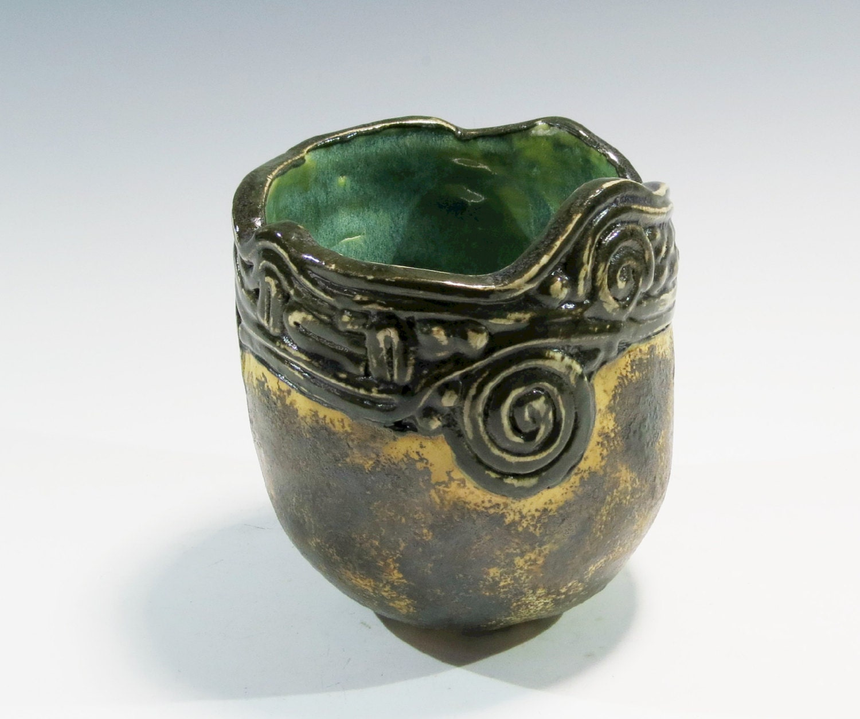 Ceramic Pinch Pot Coil Stoneware Pot Handbuilt Pinch / Coil