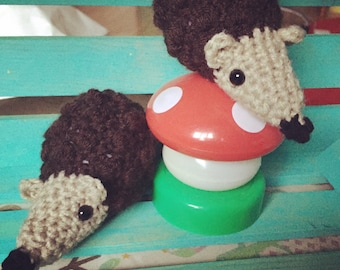 Crocheted Tiny Hedgehog Doll