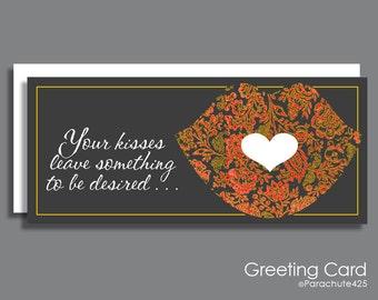 Romantic Anniversary, greeting card, anniversary card, sexy anniversary, adult card, love card, sexy birthday, Valentine, Something Desired