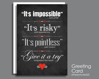 Inspirational Card, Whispered The Heart, motivational card, inspirational quote, encouragement quote, graduation card, congratulations card
