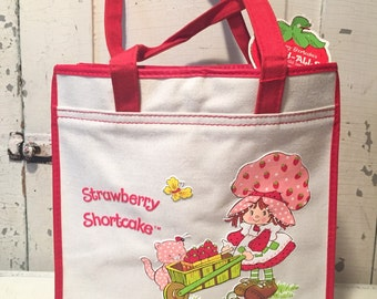 Vintage 1980 Strawberry Shortcake Carry-Alls bag -new with tag-