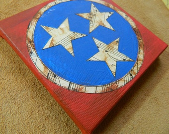Tennessee Flag - Music City Painting