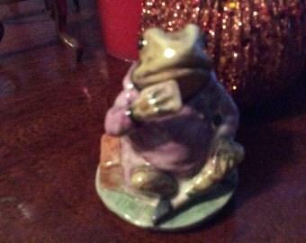 1974 Mr. Jeremy Fisher Beatrix Potter figurine back stamp rare 1950  A Great Fathers Day item
