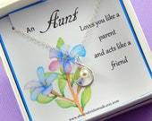 Aunt Gift,  Sterling Silver Infinity Necklace,  Gift Boxed Necklace For Aunt
