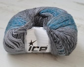 Destash yarn, Knitting yarn, Turquoise, Grey Shades, DK, Light Worsted yarn, Y38