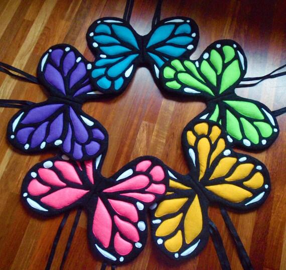 You CHOOSE COLOR Monarch Butterfly WINGS. Fairy Princess Prince. Felt, No Wire. Original design.
