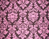 Store Closing SALE- Candy Damask in coco by Michael Miller, 1 yard