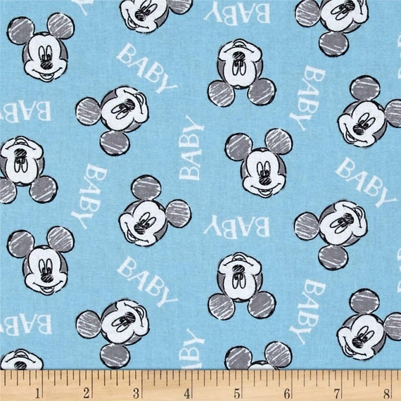 Sale mickey mouse disney nursery fabric 100 cotton for Nursery fabric sale