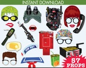 Ghostbusters Photo Booth Props, Ghostbuster Party, Ghostbuster Inspired Props - Instant Download PDF - 57 DIY Printable Props