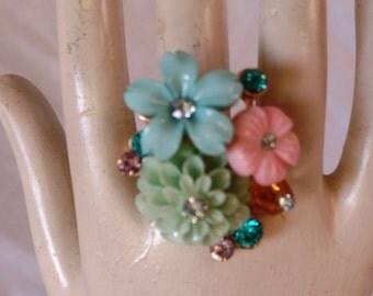 Vintage Inspired Flower Ring