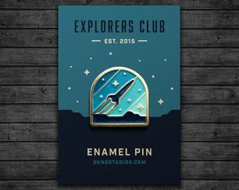 Explorers Club: Rocketeer Enamel Pin