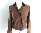 Vintage Jacket 40s 50s brown with orange Fleck Jacket M L - on sale