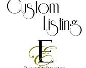 Custom Listing for Holly