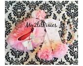 5 piece set - baby girl Pink TUTU Bloomer, Leg warmers , HEADBAND and Necklace Snowflake Set. Pink snowflake , photo prop, Christmas
