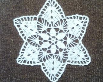 D-11. White Doily, 17 cm, Crochet Lace Doily, Round Doily, Inspiration