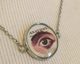 Anatomy Eye - Silver Pendant Necklace