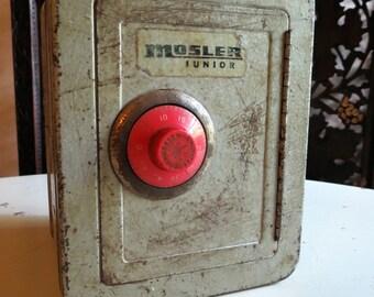 Vintage MOSLER Junior Metal Safe Bank Vault