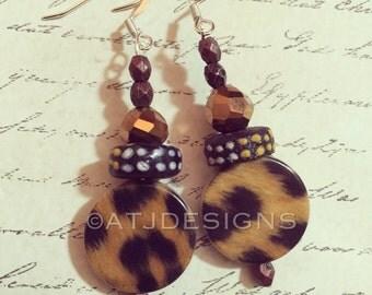 African dangle earrings
