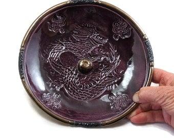 Dragon Incense Burner Handmade Ceramic Pottery