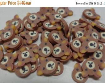 50% OFF - BROWN BEAR - 127 Polymer Clay Slices