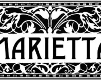 Welcome to Marietta deco style 9 x 12