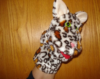 Cat Kitten Feline Hand Puppet faux fur fabric