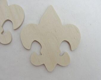 Fleur de lis cutouts set of 4