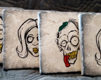 The Living Dead Zombie Coasters