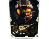 FREE SHIPPING! Hard Drive Clock with Awesome Halo 3 Game Image. Got Gamer in the Family?