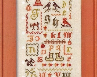 Halloween Alphabet Sampler - Cross Stitch Pattern by JBW DESIGNS - Halloween Motifs - ABC