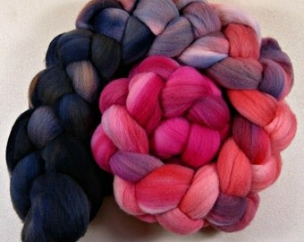 Coralberry 2 merino wool top for spinning and felting (4.1 ounces)