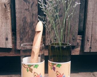 Wine Bottle Vase - Carpe Vino