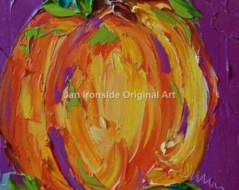 Pumpkin decor , Art , oil painting ,  Jan Ironside ,  Halloween , home Decor