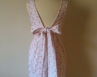 Pink and White Eyelet Apron