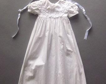 Vintage Infant Christening Gown Lace Dress Hat Baptism Baby Dress Lace Bonnet