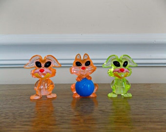 Aliens, Rabbits, Cat, Bunny, Cake Toppers, Animals, Figurines, Craft, Supplies, Miniatures, Jewelry, Mixed Media, Toys