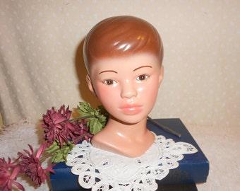 Ceramic Bust Boy Head