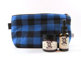 Beard Oil Case - Buffalo - hipster shaving Mens toiletry bag Guys travel bag Beard kit Beard grooming kit Shaving kit Dopp Kit