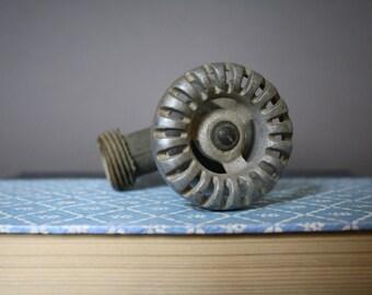 Vintage Water Spigot - Brass with Silver Knob Handle