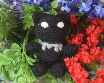 Black Panther Avengers Amigurumi Plush